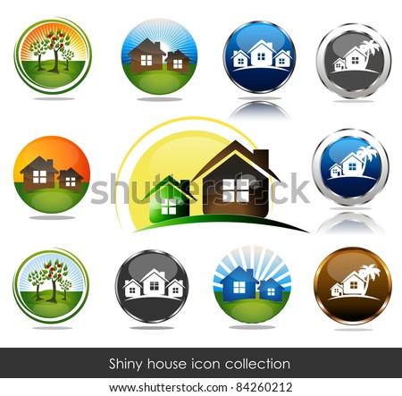 shiny house icon collection