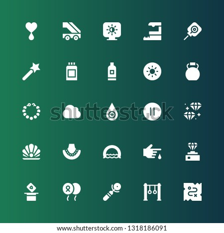 shiny icon set collection of