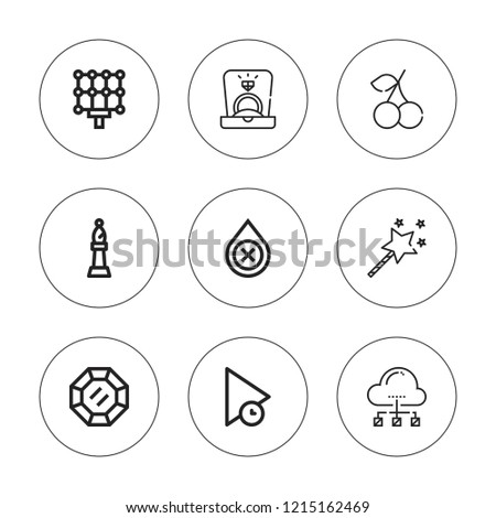 shiny icon set collection of 9