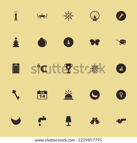 shiny icon. shiny vector icons set snow globe, wrench, lipstick and female gender symbol