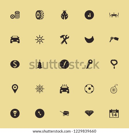 shiny icon. shiny vector icons set sun leaves, gift location, wrench hammer and lipstick