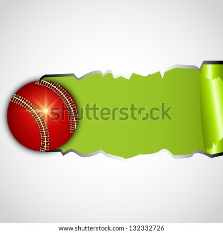 Shiny leather cricket ball, sports concept.