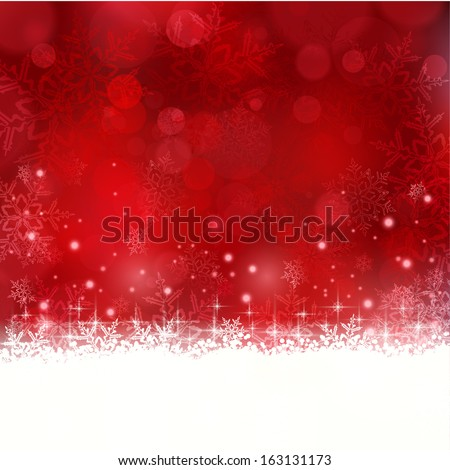 Shiny light effects with blurry lights and glittering snowflakes in shades of red and a wavy contour. Great for the festive season of Christmas to come.