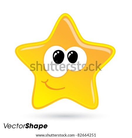 shiny little happy star smiling