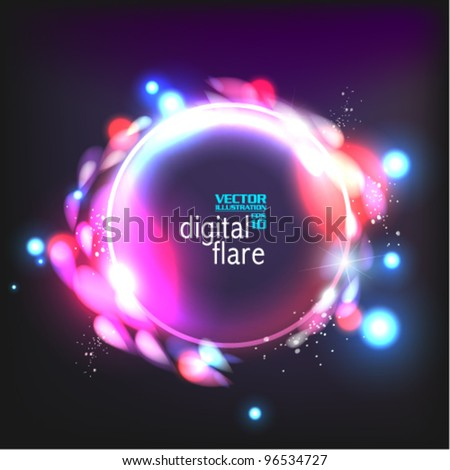 shiny magical bubbles vector