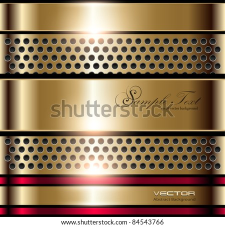 Shiny metallic background, vector.