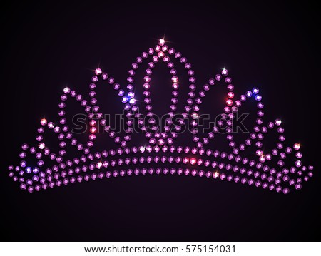 shiny pink tiara with sparkles