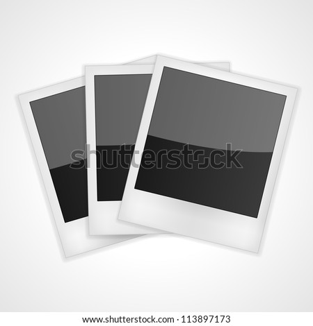 Shiny Polaroid Frames Isolated on white. Vector illustration - stock vector