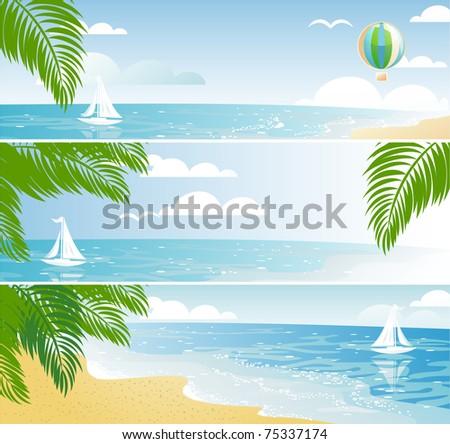 shiny seaside banners