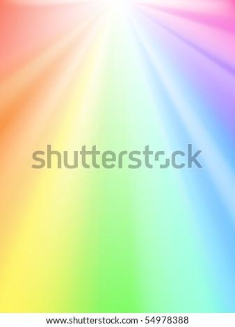 shiny sky   rainbow light