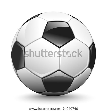 shiny soccer ball waiting to be