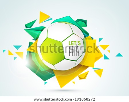 shiny soccer ball with stylish