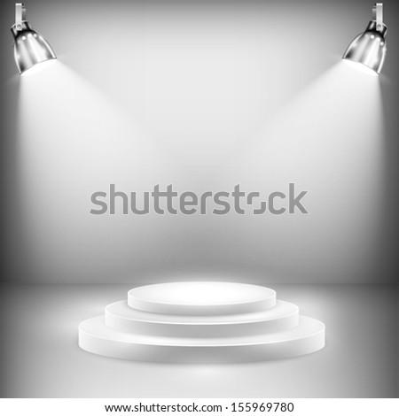 shiny stage illuminated by