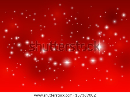 shiny starry lights on red