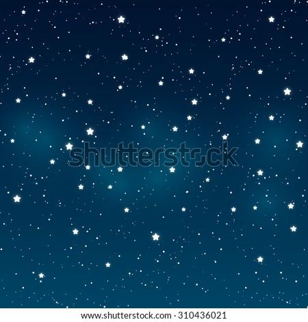 shiny stars on night sky