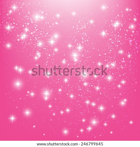 shiny stars on pink background