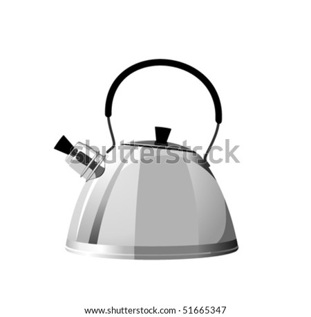 Shiny steel kettle