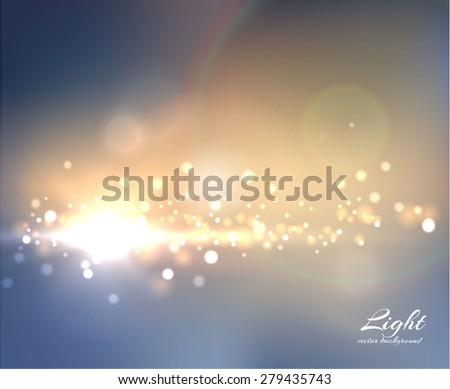 Shiny stylish background. Star burst background with blurred lights. Vector eps10.