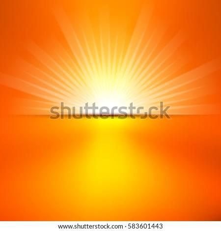 stock-vector-shiny-summer-sun-lights-vector-banner-background-design
