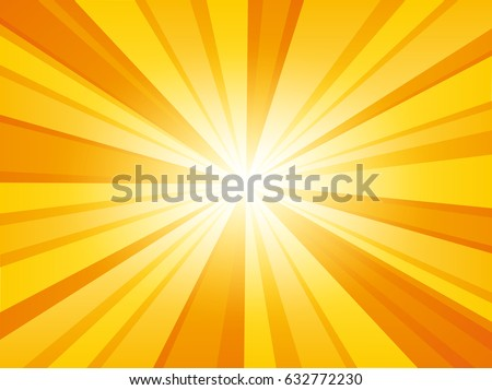 Shiny sun background. Vector illustration.