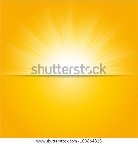 shiny sun vector, sunbeams, sunrays