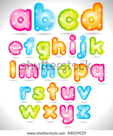 Shiny Trendy Font - stock vector