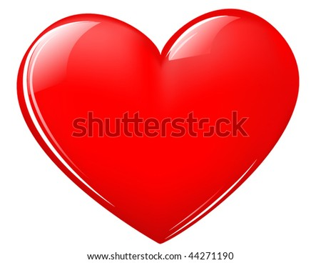 picture of valentine heart. shiny Valentine heart