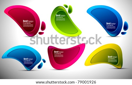 Shiny vector bubbles for speech , editable illustration