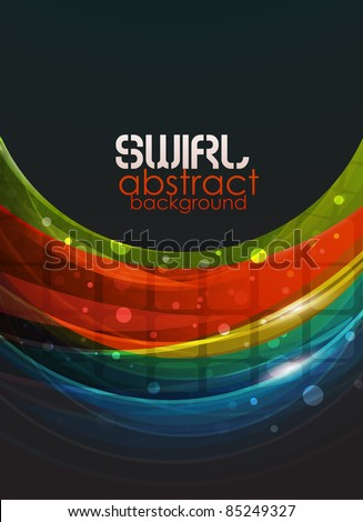 Shiny wave. Abstract eps10 vector background