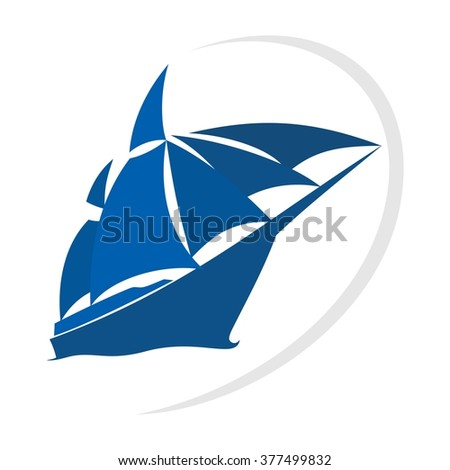 ship and sail logo vector