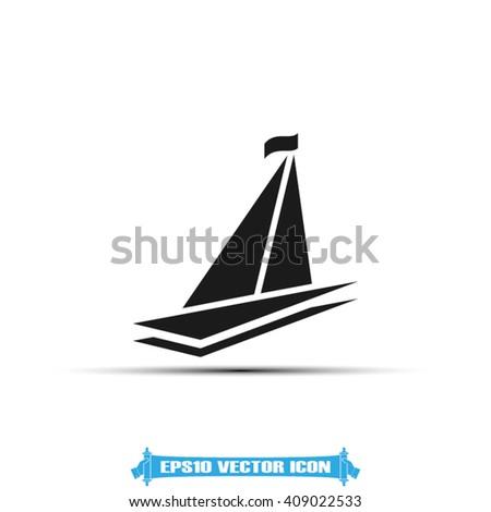 ship icon eps10  ship icon