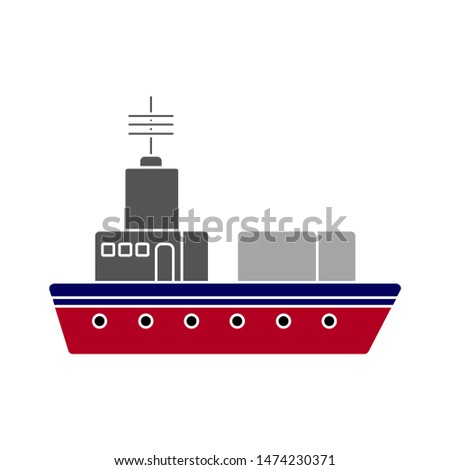 ship icon. flat illustration of ship vector icon. ship sign symbol