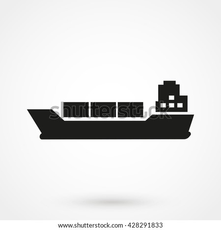 Ship icon isolated on background. Modern flat pictogram, business, marketing, internet concept. Trendy Simple vector symbol for web site design or button to mobile app. Logo illustration