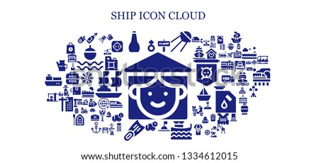 ship icon set. 93 filled ship icons.  Collection Of - Vietnamese, Mars, Oil, War, Sputnik, Buoy, Boat, Delivery, Fins, Warehouse, Portuguese, Meteorite, Train, Fuel, Dohyo, Float
