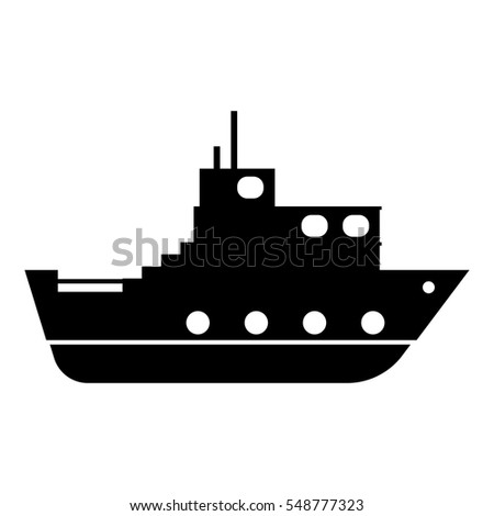 Ship icon. Simple illustration of ship vector icon for web