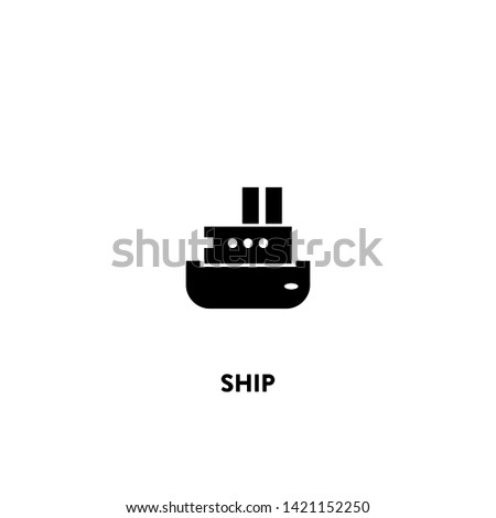 ship icon vector. ship sign on white background. ship icon for web and app