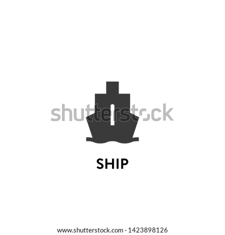 ship icon vector. ship vector graphic illustration