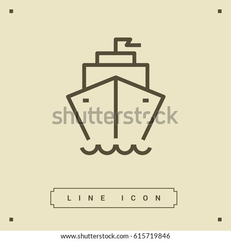 ship liner line vector icon