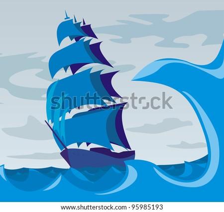 ship on the sea - spirit of adventure