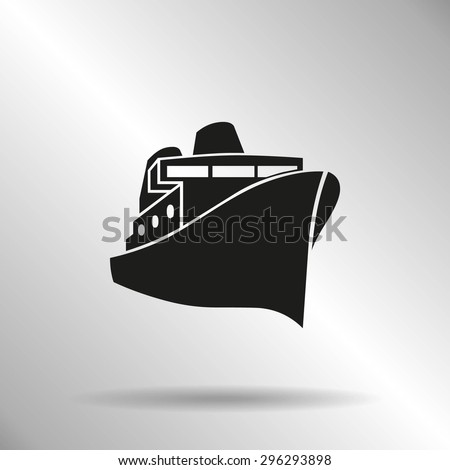 Ship sign icon, vector icon