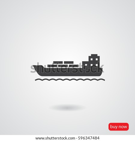 ship vector  icon
