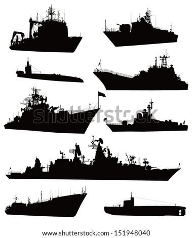 ship vectors detailed