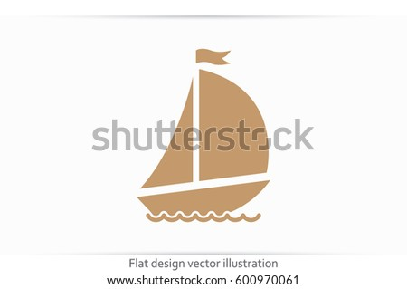 ship with sails icon vector illustration eps10.
