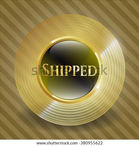 Shipped golden emblem