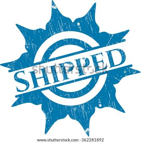 Shipped grunge stamp