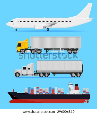 shipping and delivery vehicles