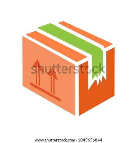 shipping box icon, vector shipping box, storage symbol, vector cardboard