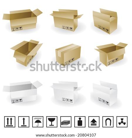 shipping box vector stock 2