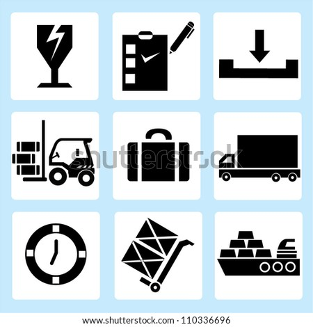 shipping icon set, logistic