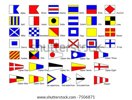 shipping international signal flags